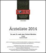 Icon Focus Urkunde Ärzteliste 2014